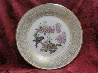Lenox Edward Marshall Boehm Birds Plate Ornate Gold American Redstart