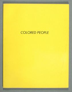 Ed Ruscha Colored People Artist Book First Edition 1972