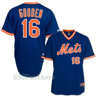Dwight Doc Gooden New York Mets 1986 Cooperstown Royal Blue Jersey Sz