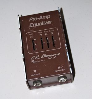 LR Baggs Pre Amp Equalizer Guitar Bass Effects No Reserve