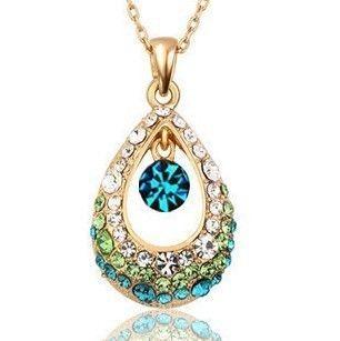 AG4642 New Fashion Jewelry Hollow Rhinestone Drop Necklace