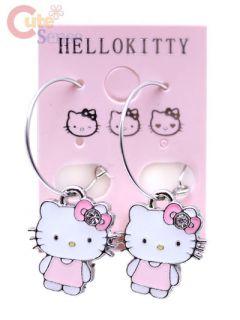 Sanrio Hello Kitty Earring Hoop Enamel w Rhinestone