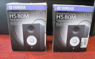 Set of TWO Yamaha HS80M Speakers AS IS