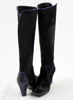 679 Auth Brand New BCBG Max Azria Basanti Pony Hair Black Boots Shoes