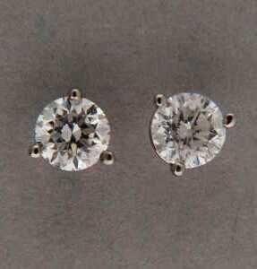 25 CTW 1 4 Carat 14k Diamond Stud Earrings White Gold