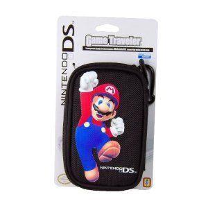 Nintendo DS Lite Game Traveler Mario Case Black DS RR124749 Very Good