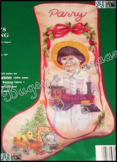 Needle Treasures Parry's Stocking Crewel Stitch Christmas Kit –J