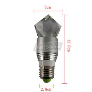 E27 3W RGB Crystal Flash LED Light Bulb Remote Control