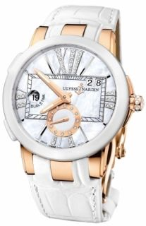 New Ladies Ulysse Nardin Executive Dual Time Lady Rose Gold Watch