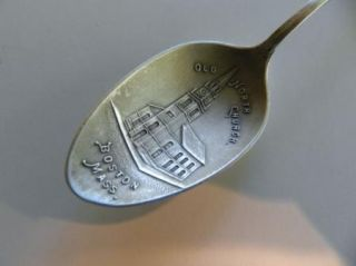 Silver Souvenir Spoon Boston George E Homer Paul Revere CI 1910
