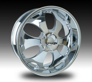 Velocity VW780 26x10 Chrome VW780 Rims 26 Dub Wheels Set