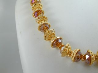 Awesome Dubai East India Set 22K 24K Gold GP Earrings Necklace