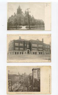 Lot 3 East St Louis IL Postcards High School Horace Mann Collinsville