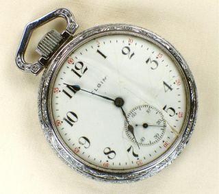 Antique Elgin 16S Railroad Pocket Watch 61U