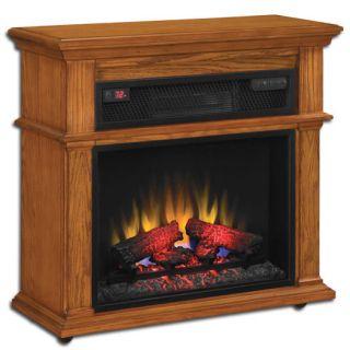 DURAFLAME Powerheat Infrared Electric Fireplace Heater Oak