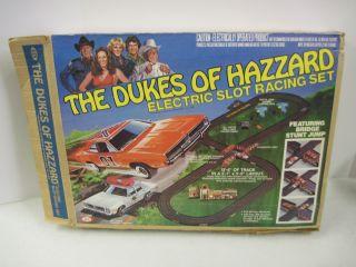 Vintage Dukes of Hazzard Ideal Slot Car Racing Set 1981