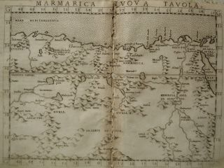 Genuine Antique Map of North Eastern Africa by Ruscelli C 1561