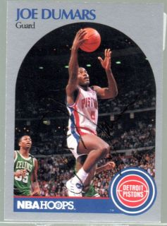 Signed Joe Dumars 1990 91 Hoops card #103 LOOK