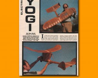 Control Plan YOGI Electric RC of an old timer Model Airplane Plans