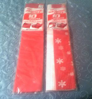 packs Christmas Winter gift wrap tissue paper 36 sq ft 20 sheets