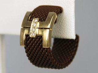 CÉDÉ Diamond Yellow Gold Steel Earrings CLEARANCE Cede