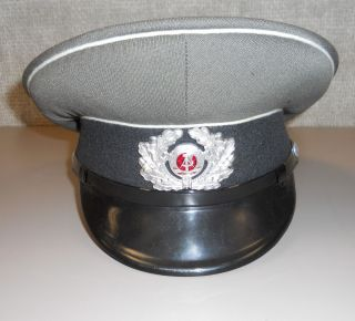East German DDR Army Enlisted NCO Visor Dress Hat Cap Mint and