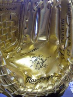 Dustin Pedroia Autographed Rawlings Mini Gold Glove