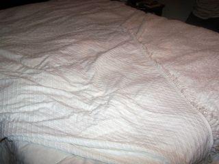 Vintage Chenille Bedspread 10 x 8 5 King Size White Elegant