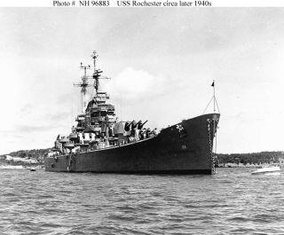 USS Rochester CA 124 Westpac Deployment Cruise Book Year Log 1957 58