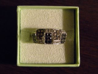 Ross Simons Tri Colored Diamond and 14k Gold Ring Sz 8 Newly REDUCED