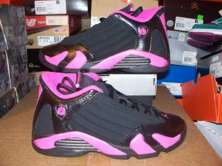 Girls Nike Air Jordan Retro 14 XIV Black PINK 7Y Womens 8 5 last shot
