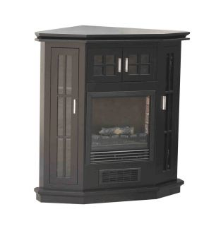Riverstone French Electric Corner Fireplace Heater BLACK Fully