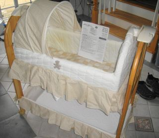 Eddie Bauer Musical Rocking Bassinet and User Guide 10330 Used in