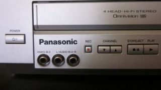 Panasonic DVD Player VHS VCR Recorder Combo PV D4734S Hi Fi Stereo