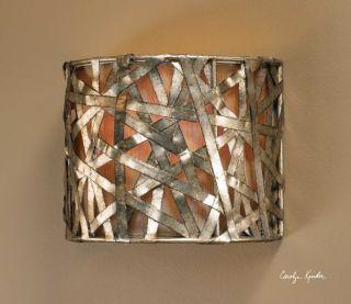 Electric Wall Sconce 60 Watt Light Modern Silver Lamp Contemporary