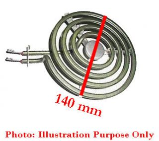 Electric Stove Coil Heating Element Parts 140 mm OD Plug in