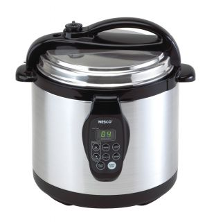 Nesco Electric Stainless Steel Multi Cooker Steamer Pressure Cooker 6
