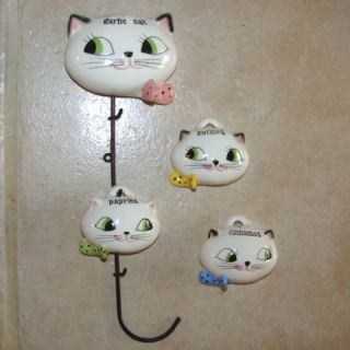 Vintage Holt Howard Pixieware Cozy Kitten Spice Rack Pixie Garlic Salt