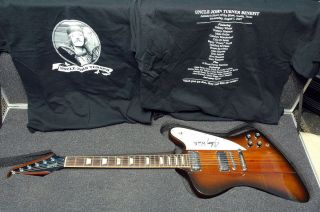 Gibson Firebird V re Issue Signed by Blues Legend Johnny Winter