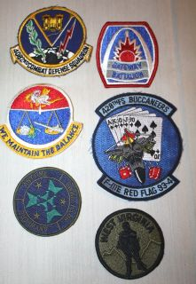 Lot of 26 USAF Military Patch Lot ~ Air Force Patches Colored & Few