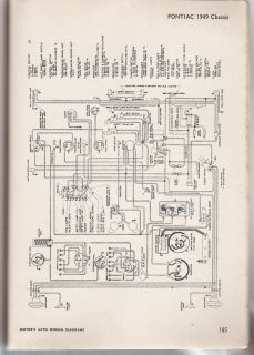 Wiring Diagram Pontiac 1949 1950 Chassis