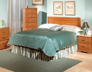Elkridge Full Queen Adjustable Wooden Headboard Oak Finish