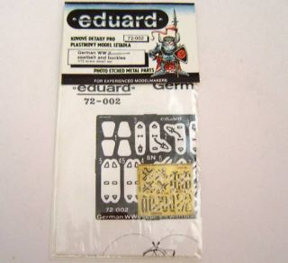 Eduard German WWII Seatbelts Buckles Photo Etched 1 72