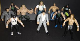 Action Figure WWE WWF lot of 10 Vince McMahon Titan Tron wrestling