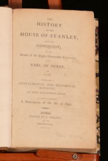 The History of the House of Stanley Conquest Death Earl Derby Isle Man