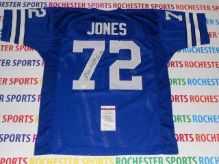 ED TOO TALL JONES autographed signed Dallas Cowboys blue Jersey JSA
