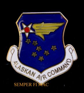 US Air Force Alaskan Air Command Hat Pin Elmendorf AFB