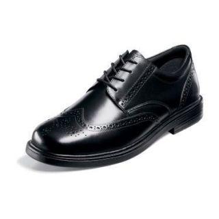 New in Box Nunn Bush Mens Eagan Wingtip Dress Shoes Black Leather