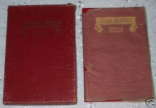 Antique Book Just Folks by Edgar Guest 1917 New