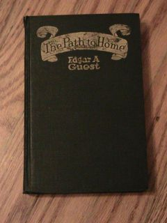 Home HC Book Vintage Antique Edgar A Guest Poems Poetry Stories